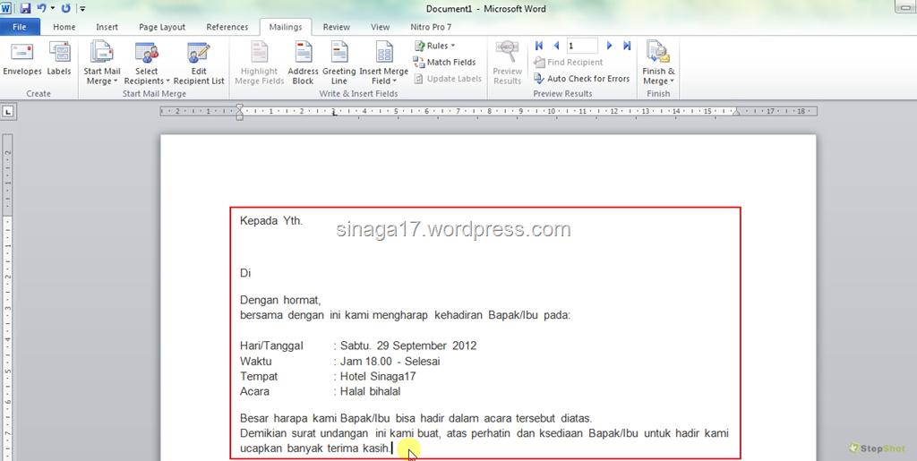 mail merge to pdf word 2010