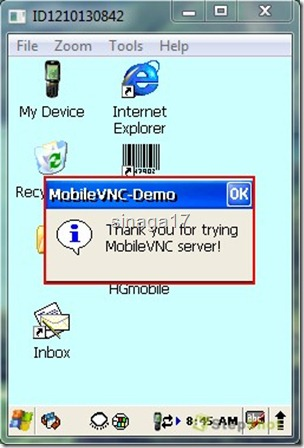 VNC Windows CE 12