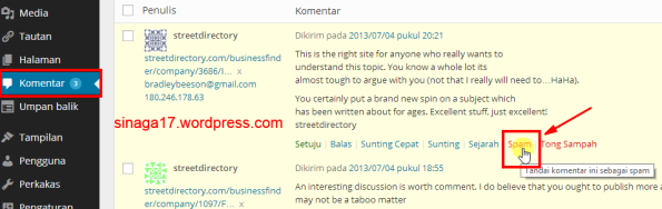 komentar spam